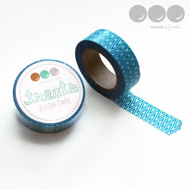 Washi Tape Dark Aqua Chevrons