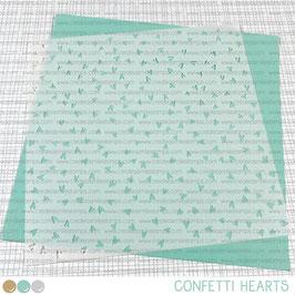 Stencil: Confetti Hearts