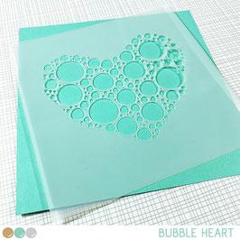Stencil: Bubble Heart
