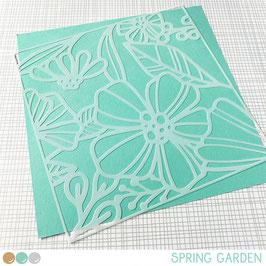 Stencil: Spring garden