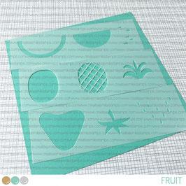 Stencil: fruit