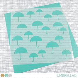 Stencil: Umbrellas