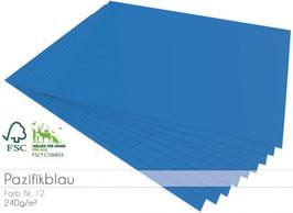 Cardstock Pazifikblau