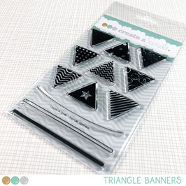 Clear Triangle Banners