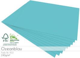 Cardstock Ozeanblau