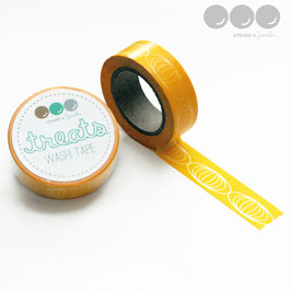 Washi Tape Yellow Ovals