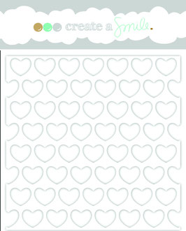 Stencil: Big Hearts Polka