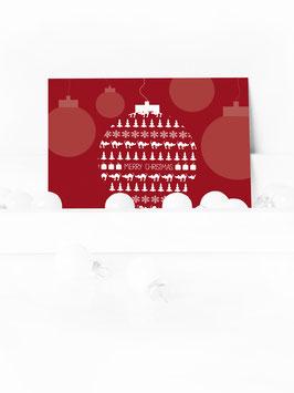 "WEIHNACHTSPOSTKARTE ""MERRY CHRISTMAS"" #03"