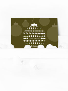 "WEIHNACHTSPOSTKARTE ""MERRY CHRISTMAS"" #01"