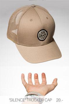 'SILENCE' TRUCKER CAP SAND