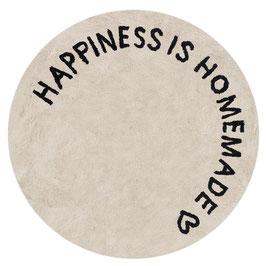 Runder Webteppich Happiness