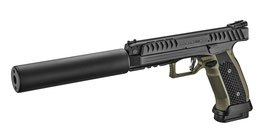 LAU-01 / Pistole Laugo Arms Alien inkl. Schalldämpfer - Kal. 9x19