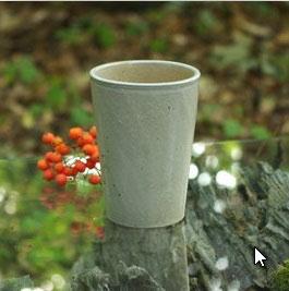 Becher, elsässer Steinzeug