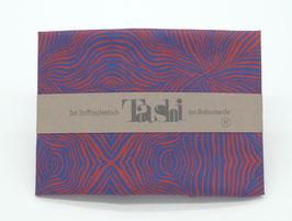 Tashi- Bewegte Streifen rot/blau