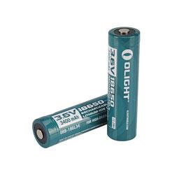 DOS Baterías Recargables Olight 18650 Litio de 3400mAh