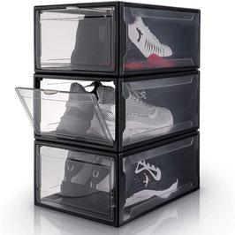 SYSI-Schuhbox schwarz/transparent