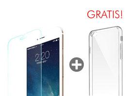 Zusatzoption: Displayschutz Glasfolie inkl. Montage für iPhone 6S + Clear Case geschenkt!