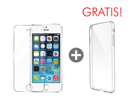 Zusatzoption: Displayschutz Glasfolie inkl. Montage für iPhone SE + Clear Case geschenkt!