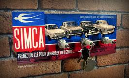 Accroche clés mural Simca 1000,1300,1500, Aronde,Ariane ...avec logo en Relief.