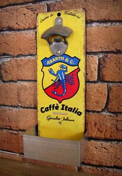"""Décapsuleur mural """"caffé Italia"""" auto vintage Abarth"""