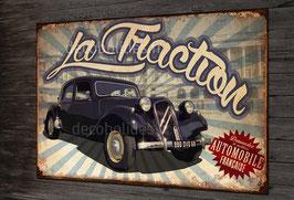 plaque métal déco Citroën Traction.
