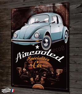 """Plaque métal déco""""Volkswagen VW Cox Coccinelle Vintage & Rouille"""",par Déco bolides"""