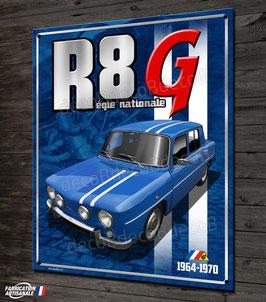 """Plaque métal"""" Renault R8 G Gordini régie nationale"""" déco garage Renault vintage  par Déco bolides"""