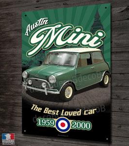 Plaque métal déco Austin Mini 1959-2000, vintage&collection.