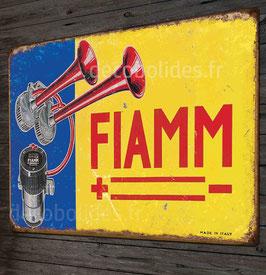 """Plaque métal déco vintage klaxon"""" FIAMM"""" , par Déco bolides."""