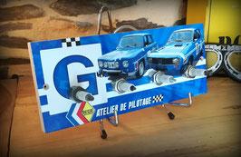 accroche clés mural avec bougies Renault R8 et R12 Gordini par déco bolides.