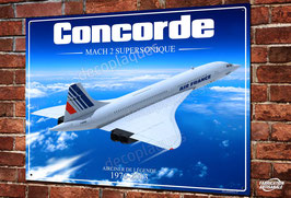 Plaque métal déco Artwork Avion supersonique Concorde