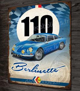 Artwork Alpine renault A110 Berlinette imprimée sur plaque métal déco, classic sport & rallye, déco garage vintage par Déco Bolides.