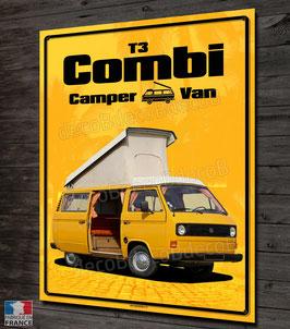 Plaque métal déco VW Combi T3 camper van