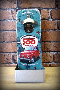 Décapsuleur mural Fiat 500 vintage
