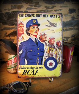 plaque métal déco, reproduction affiche WW2 royal canadian air force, par déco bolides