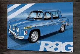 Plaque métal déco Renault R8 gordini R8G