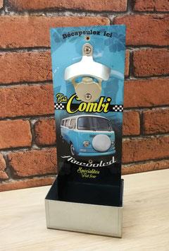 """Décapsuleur mural Volkswagen Combi """" bistrot aircooled """" ."""