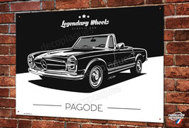 Plaque métal Artwork Mercedes-Benz 230 250 280 SL Pagode par Christophe Clérici.