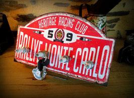 Accroche clés mural style vintage rallye de Monte Carlo par Déco bolides