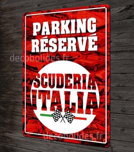 """Plaque métal déco , """"parking réservé Scuderia Italia"""" par Déco-bolides."""