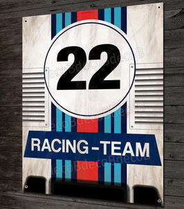 Plaque métal déco Artwork Porsche 917 N°22 racing team
