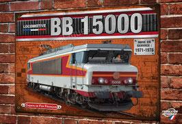 Plaque métal déco Locomotive électrique BB 15000 Train Français SNCF