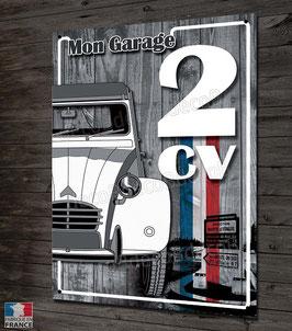 """Plaque métal déco Citroën """" Mon garage 2CV"""""""
