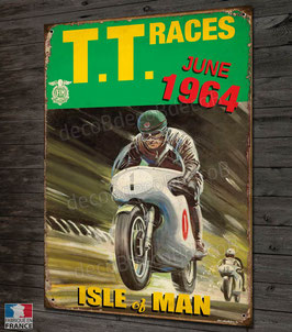 Plaque métal, TT races Isle of Man june 1964