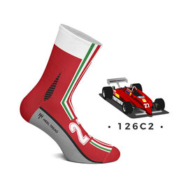 Chaussette Racing F1  Italienne N°27 Rouge