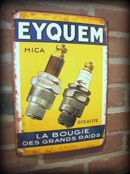 """Plaque métal déco , Bougie """"Eyquem""""  par déco bolides"""