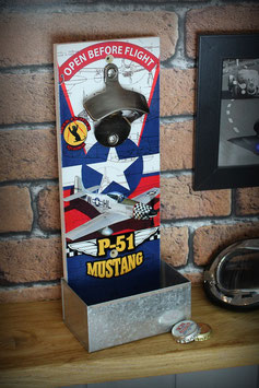 Décapsuleur mural P-51 Mustang chasseur US air force WW2