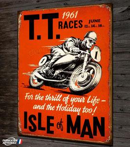Plaque métal, TT races Isle of Man 1961 par déco bolides