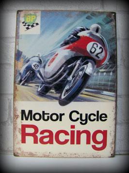 Plaque métal 30x21 cm reproduction plaque émaillé années 60 course moto par Déco- bolides