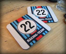 Sous verre N°22 inspiration des voitures de course et de rallye